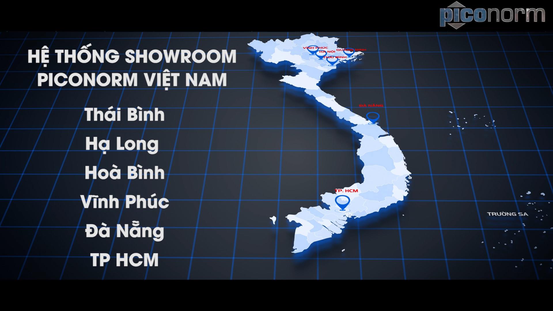 Bản đồ hoạt động của Piconorm